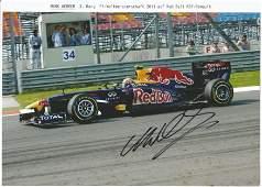 Motor Racing Collection of 4 Signed Mark Webber Formula