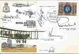 RAF Andover multiple signed RAF cover. Flown and signed