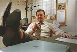 Ricky Gervais signed 12x8 colour photograph taken from