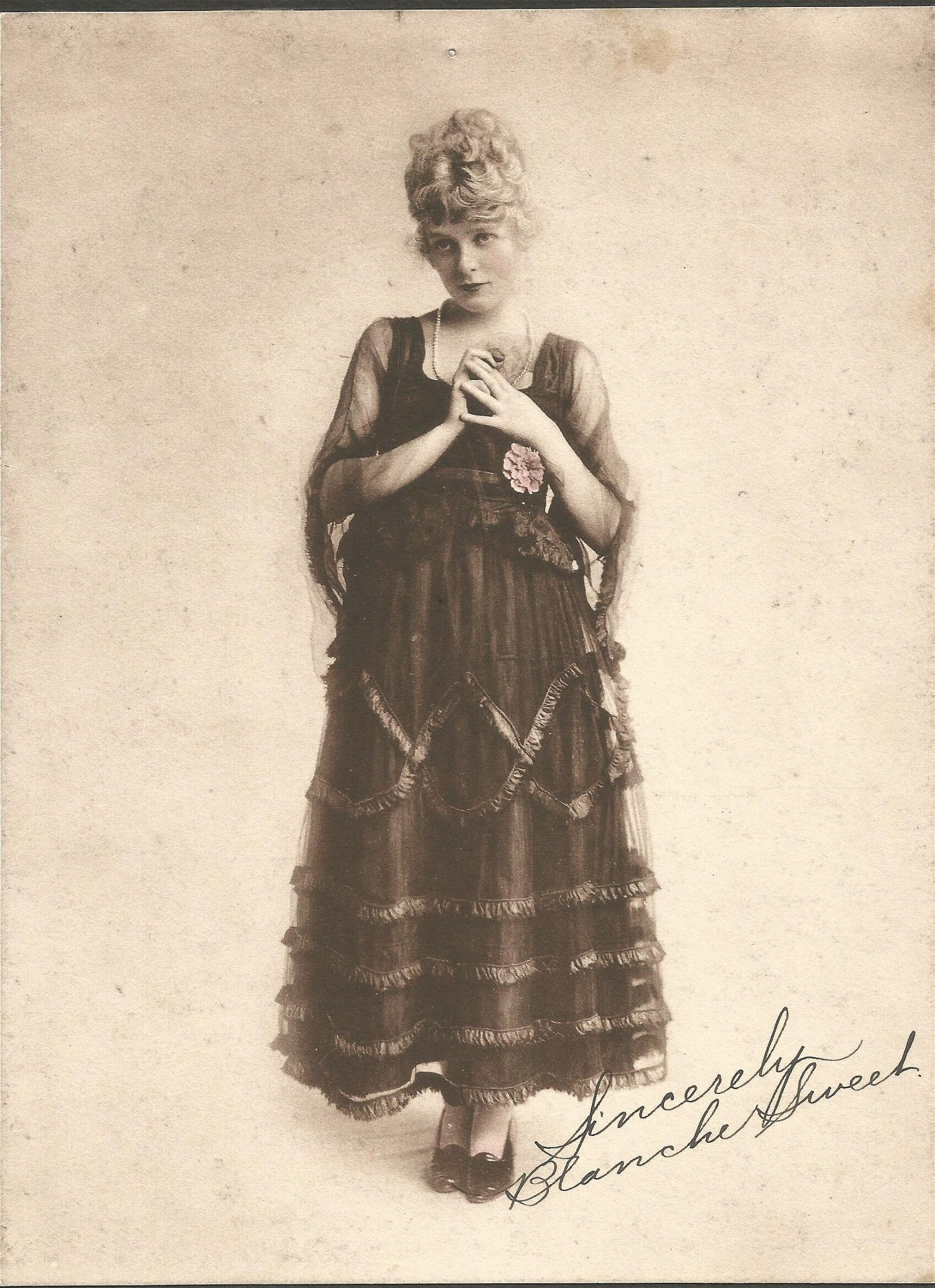 Blanche Sweet vintage signed photograph. This rare