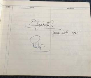 Queen and Prince Phillip signed Helensburgh Town