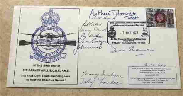 WW2 rare Multiple signed Dambusters cover. 90th Year of
