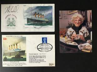 Titanic collection includes a selection of signed items