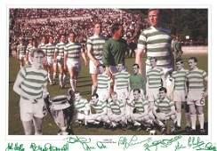 Celtic 1967 Lisbon Lions 12x16 Montage Photo Signed By