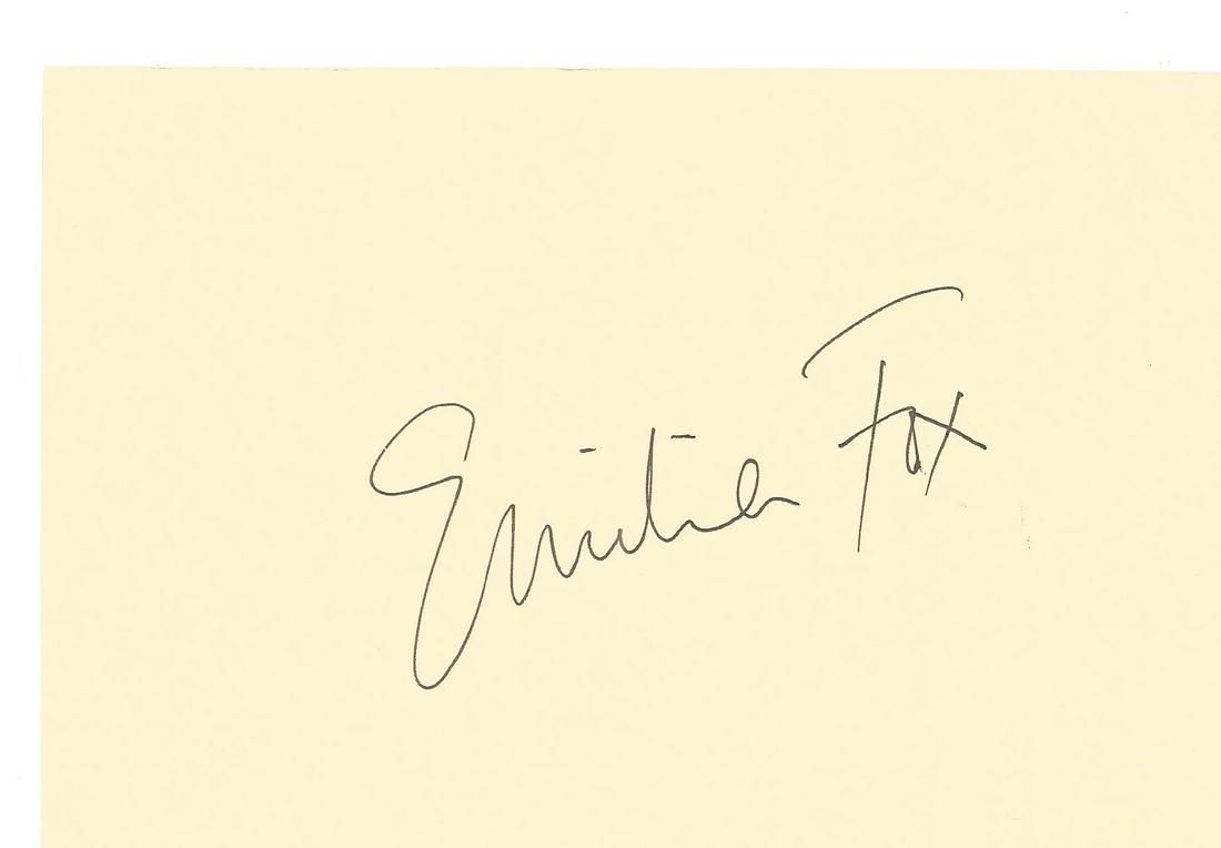 Emilia Fox signed 6 x 4 cream card. Good condition. All