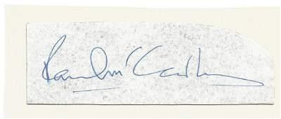 Paul McCartney small signature piece. Good condition.