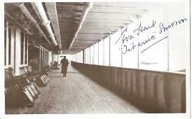 Titanic survivor Eva Hart signed Postcard with a