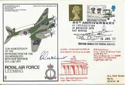 WW2 Sq. Ldr R. E. Lockhart signed FDC RAF Leeming 30th