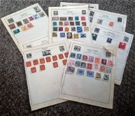 European Stamp collection 11 loose pages countries