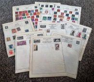 European Stamp collection 21 loose album pages