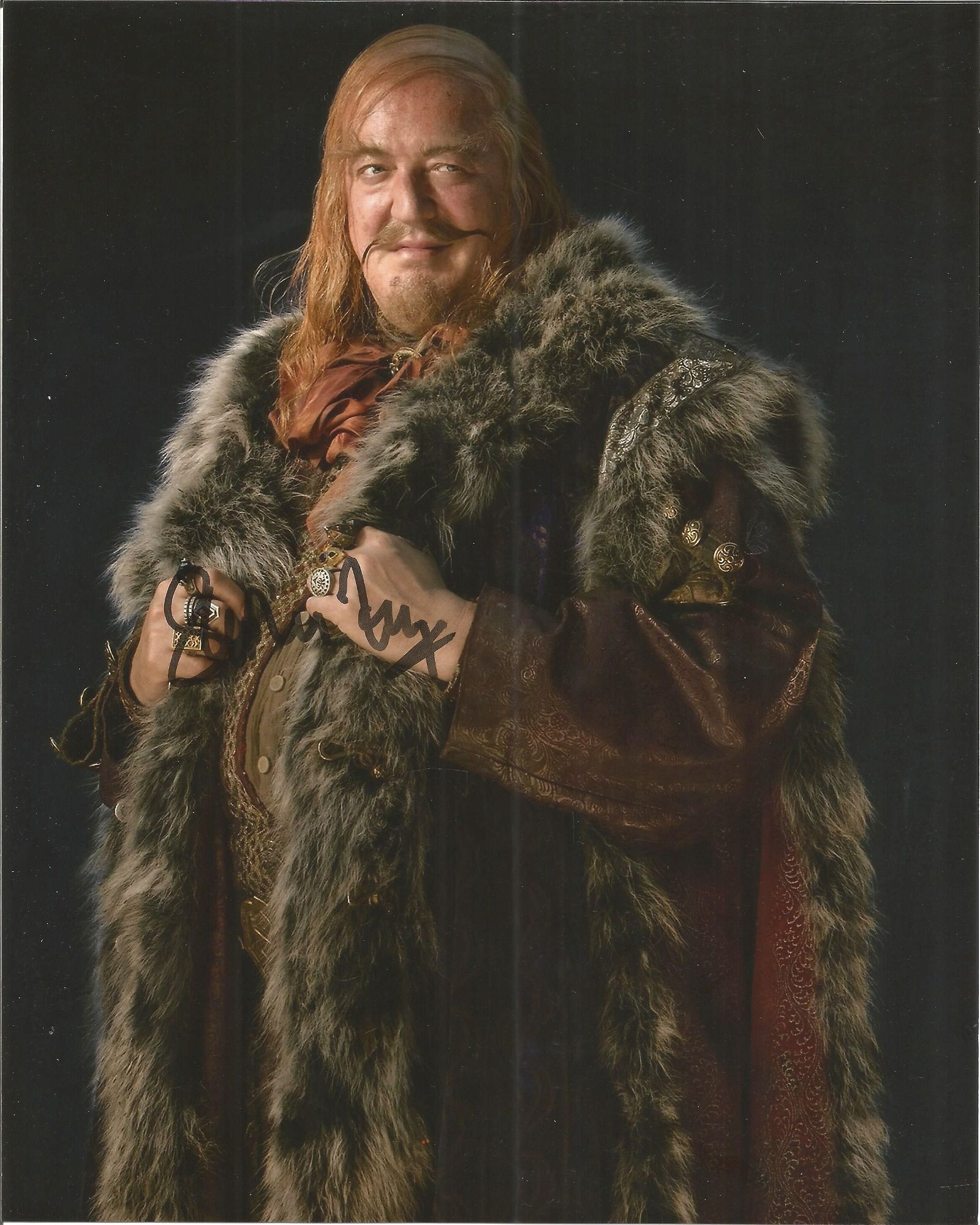 Stephen Fry signed 10x8 colour image from The Hobbit.
