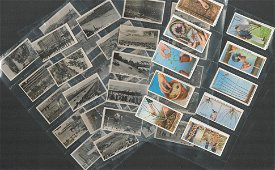 Cigarette card collection from WD and HO Wills.
