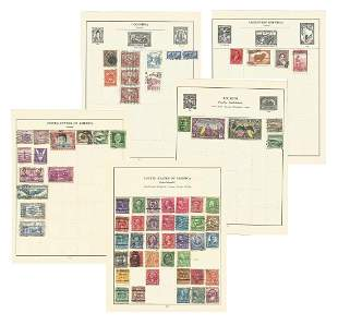 Assorted stamp collection mainly South American on 23