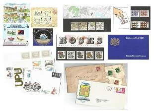 GB mixed collection. Includes Stampex 1993 souvenir