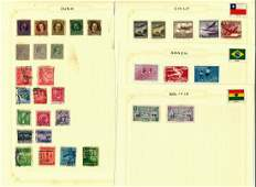 South America stamp collection 17 loose album pages