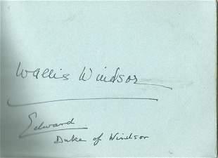 Edward Duke of Windsor and Wallis Windsor signed 6x4