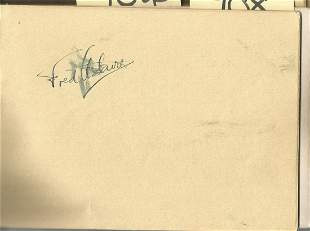 Fred Astaire signed 6x4 album page signature smudged