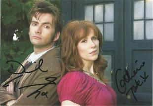 David Tennant and Catherine Tate signed 6x4 Doctor Who