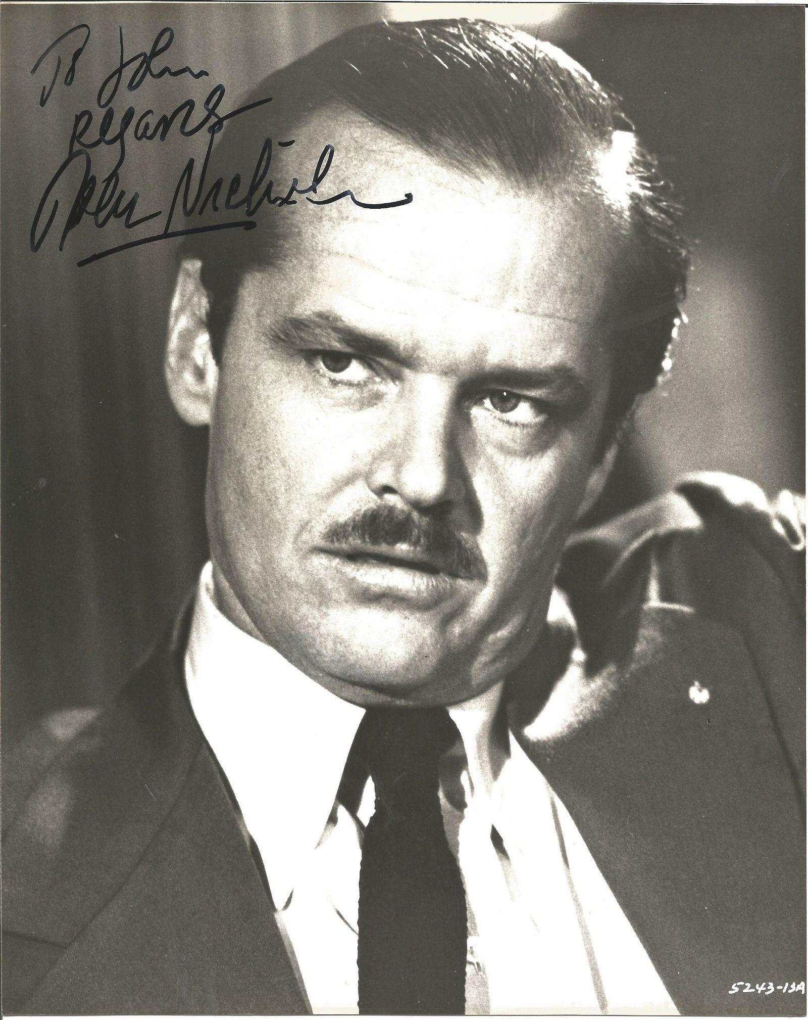 Jack Nicholson signed 10x8 black and white photo