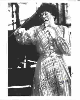 Ella Fitzgerald signed 10x8 black and white photo. Ella