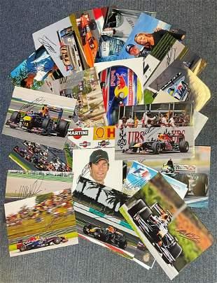 Motor Racing Mark Webber collection 23 superb, signed