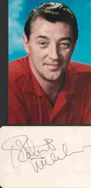 Robert Mitchum (1917-1997) Hollywood Actor Signed Card