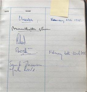 Visitors Book 1953-2008 Sir Michael Walker British High
