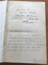 World War One Richard Bell Davies VC inscribed Fights