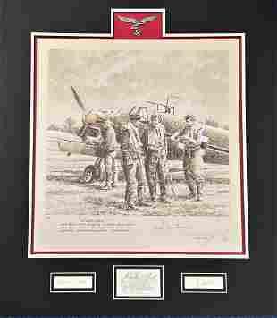World War II multi signed limited edition 25x22