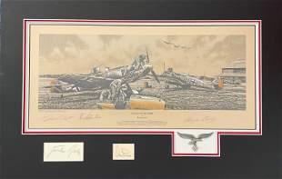 World War II multi signed 26x17 mounted limited