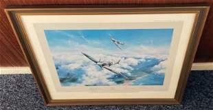 World War II Grp Cpt Douglas Bader and AVM Johnnie