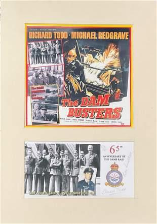 World War II Dambusters 17x11 mounted signature piece