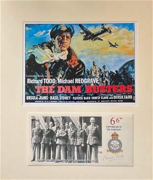 World War II Dambusters 16x14 mounted signature piece