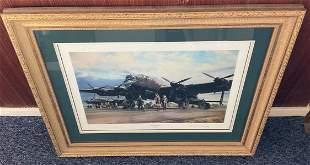 World War II 34x29 framed and mounted print titled