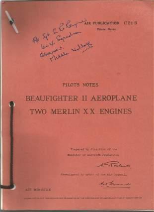 World War II Fl Sgt Rayner 604 squadron ? Signed Pilot