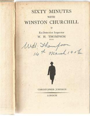 Ex Chief Inspector Walter H. Thompson signed hardback