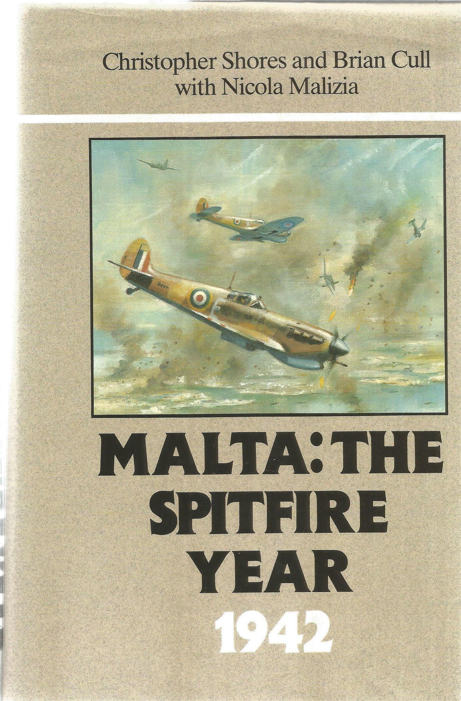 World War II multi signed hardback book titled Malta