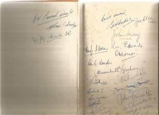 World War II multi signed hardback book titled Pattle