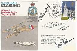 WW2 Luftwaffe aces Adolf Galland, Schoenebeck signed 6