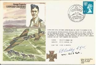 W. G. Bickley CGM signed Grp Cpt Leonard Cheshire FDC.