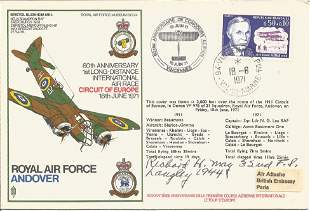 WW2 US fighter ace Richard H. May signed flown RAF