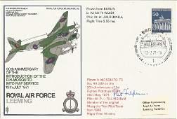 Pat Fillingham signed RAF Leeming 30th Anniversary of