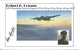 Robert B. Cowper signed 4 x 6 colour photo. He was a