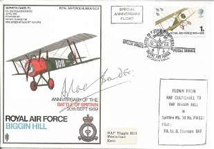Douglas Bader signed RAF Biggin Hill Anniversary of the