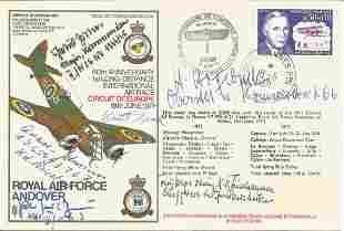 WW2 Luftwaffe ace multiple signed cover. Includes