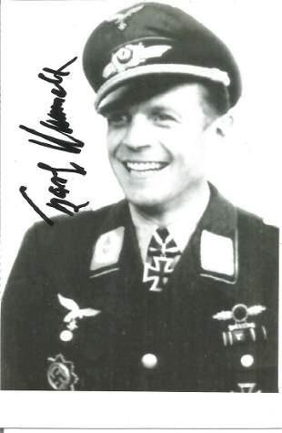 Karl Rammelt KC WW2 Luftwaffe ace signed 6 x 4 b/w
