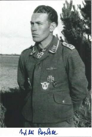 WW2 Luftwaffe ace Willi Reschke KC signed 6 x 4 b/w
