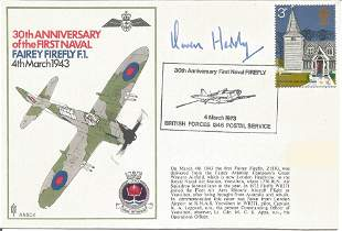 World War Two flown cover signed by Grp. Capt. Owen