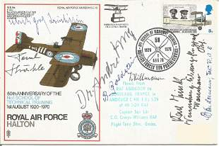 Great War German aces signed cover. Includes Dr Hug,