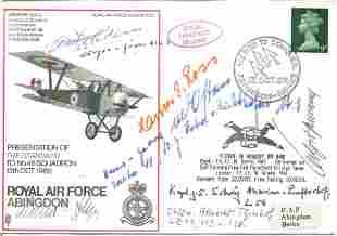 Great War German multiple signed cover. RAF Abingdon